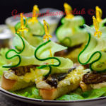 canape sprats with cucumber